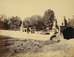 General view of tank and temples, Raipur.